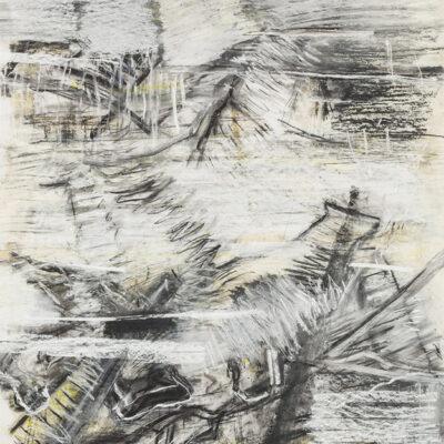 Aufzeihnung #1 - 90x70 cm| Kohle, Kreide auf Papier | 2012