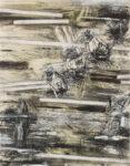 Aufzeichnung #4 - 90x70 cm | Kohle, Kreide auf Papier | 2012