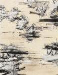 Aufzeichnung #7 - 90x70 cm | Kohle, Kreide auf Papier | 2012
