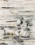 Aufzeihnung #8 - 90x70 cm | Kohle, Kreide auf Papier | 2012