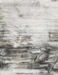 Aufzeihnung #9 - 90x70 cm | Kohle, Kreide auf Papier | 2012