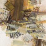 Diagonal - 150x150 cm | Eitempera auf Leinwand | 2013