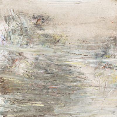 Näherung #1 - 60x60 cm | Ölpastell auf Baumwolle | 2011